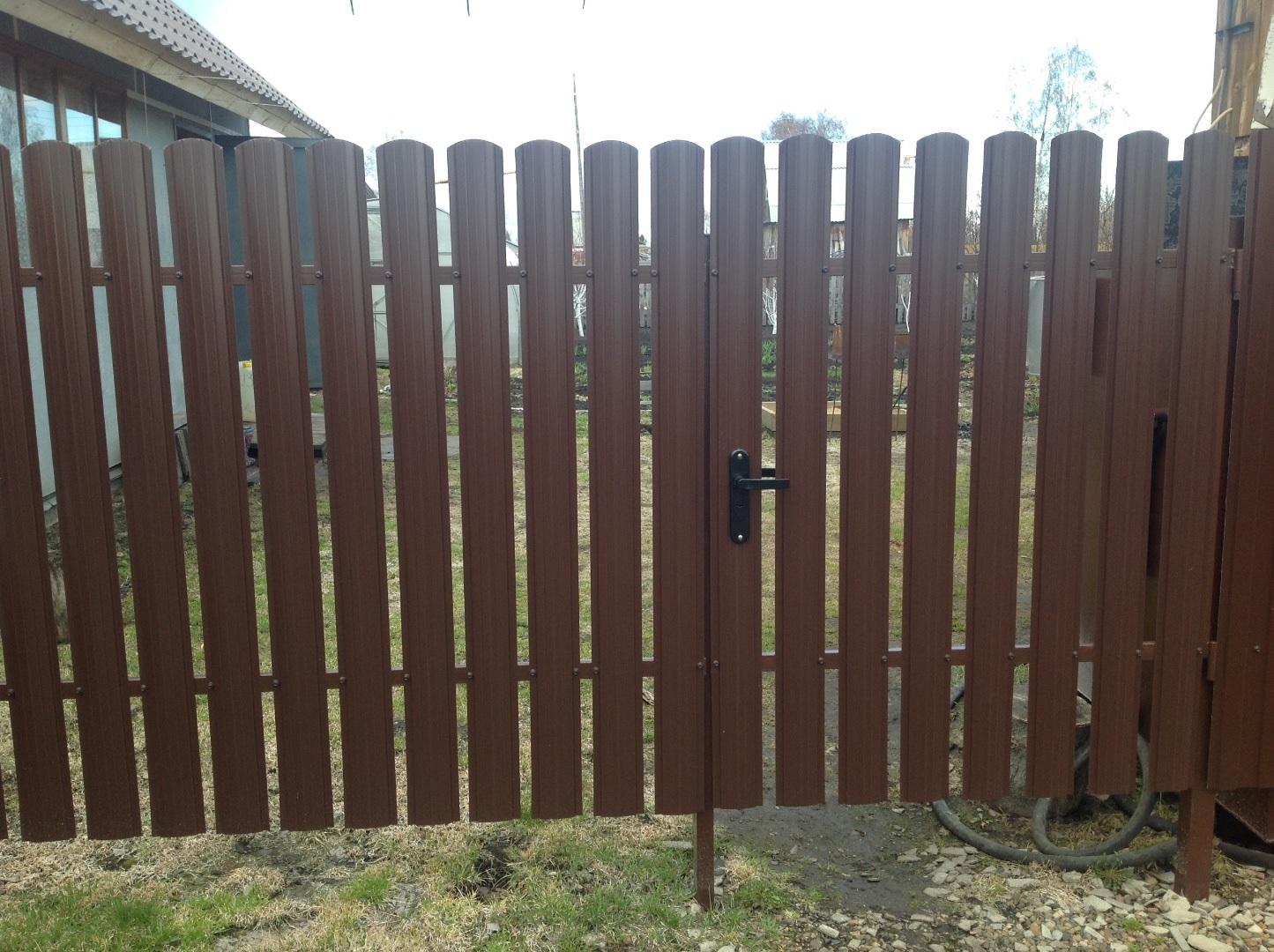 штакетник забор
