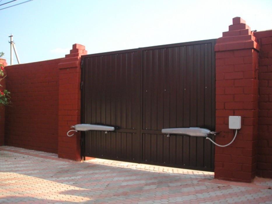 установка автоматические ворота
