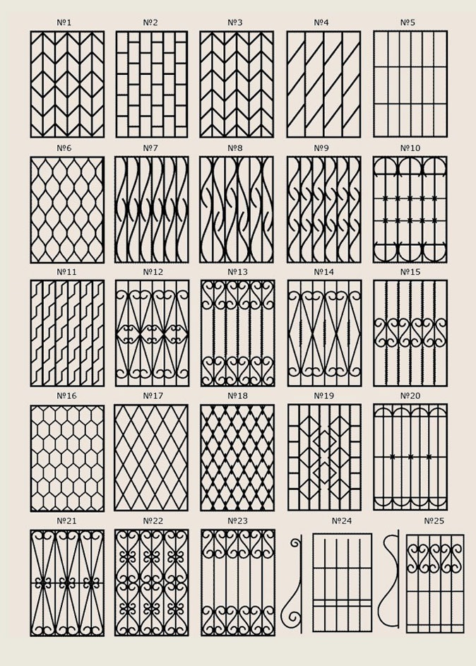 Эскиз решетки